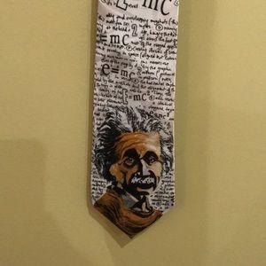 Renaissance handmade Einstein/math tie